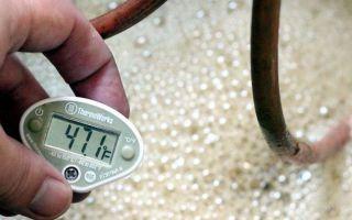 Температура брожения браги для самогона