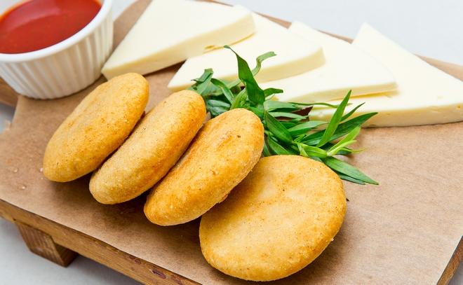 Мчади с козьим сыром